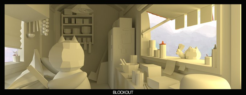 blockout camera alignment 3d modeling sketch