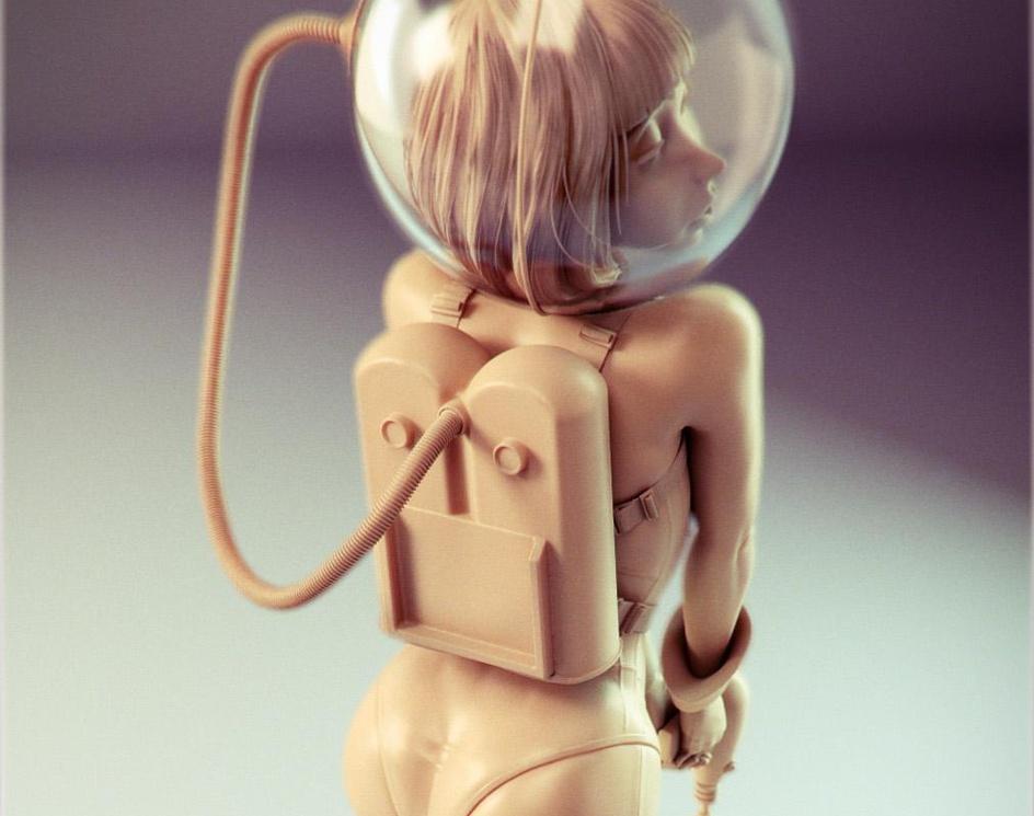 Space Girlby Patrick Eischen
