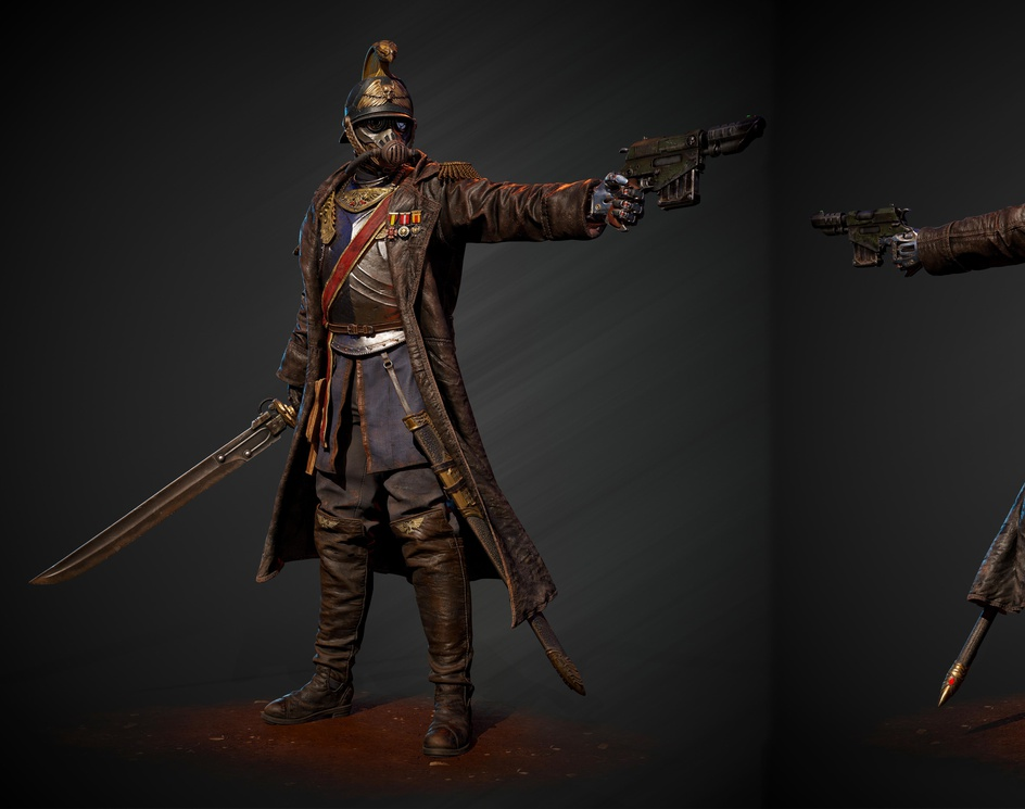 Death Korps of Krieg Officer--Fan Artby tapan rai