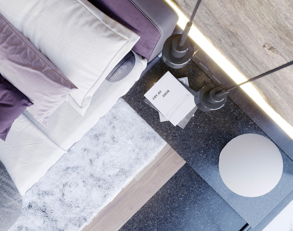 Modern Snowy Bedroomby sasan_arzani