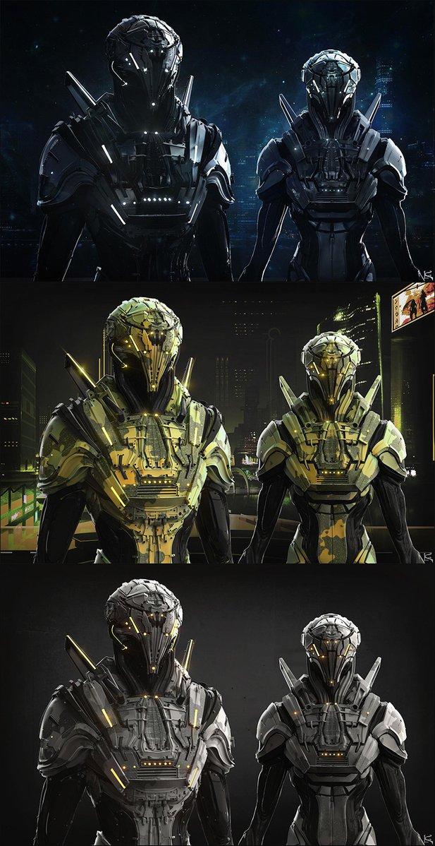 Cyberpunk Future Mech Military Suit