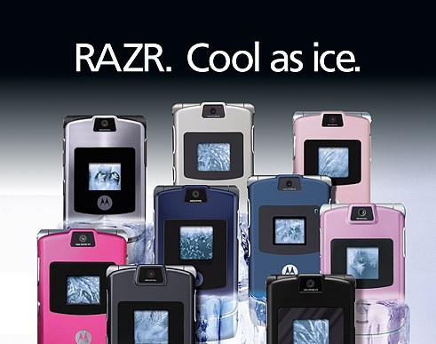 Razr. Cool as ice.by Ghostwheel