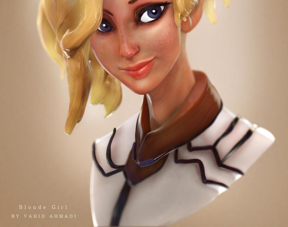 blonde girlby vahidahmadi2050