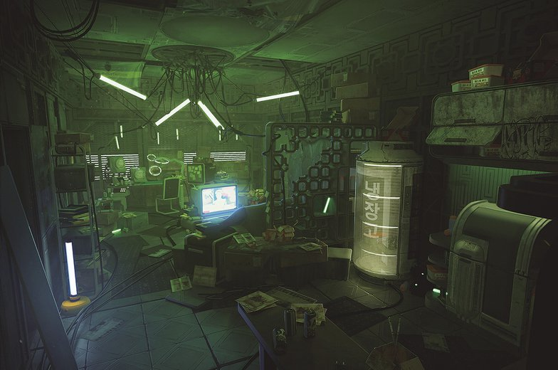 Cyberpunk The Hives Building Room