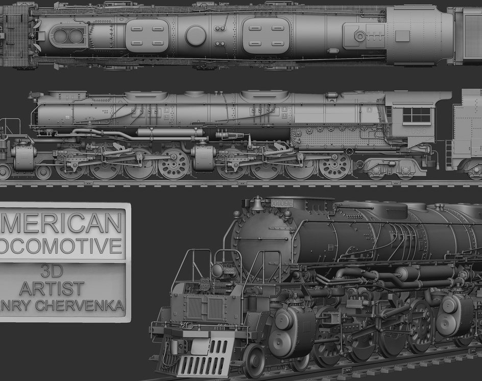 4884 Steam Locomotiveby Henry Chervenka