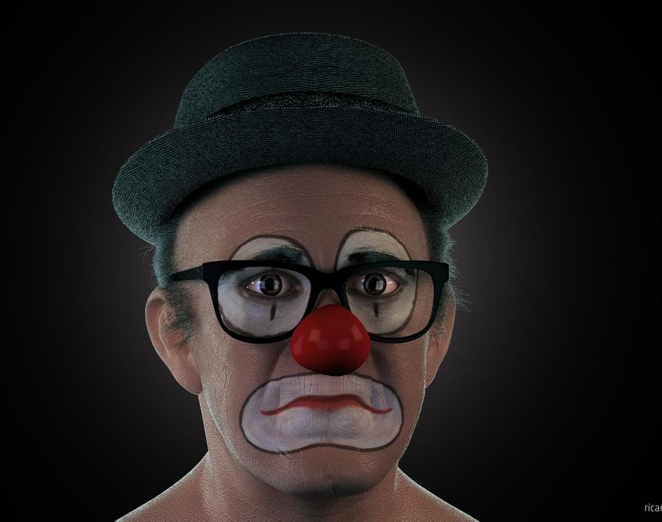 Renato Aragão Clownby Ricardo Roduit