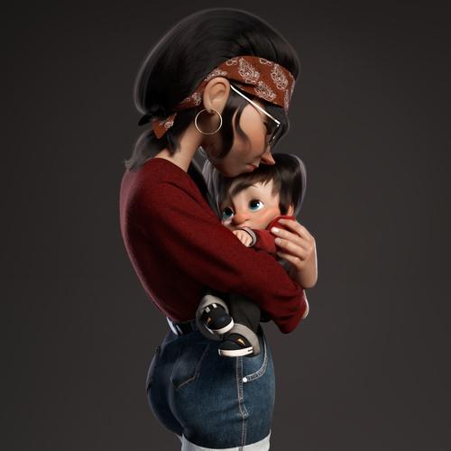 female character design 3d model