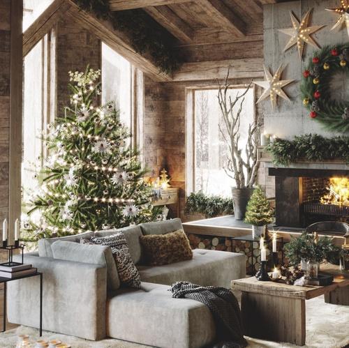 cozy christmas interior 3d visual