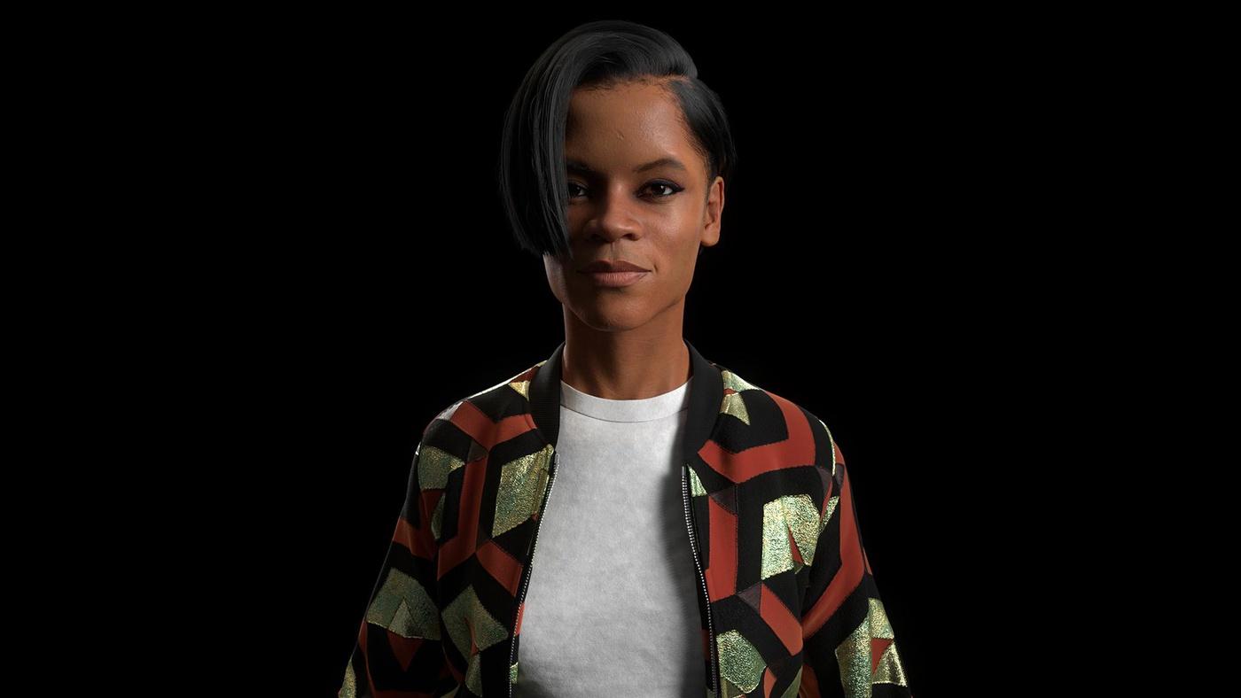 Letitia Wright Fan Art realistic portrait