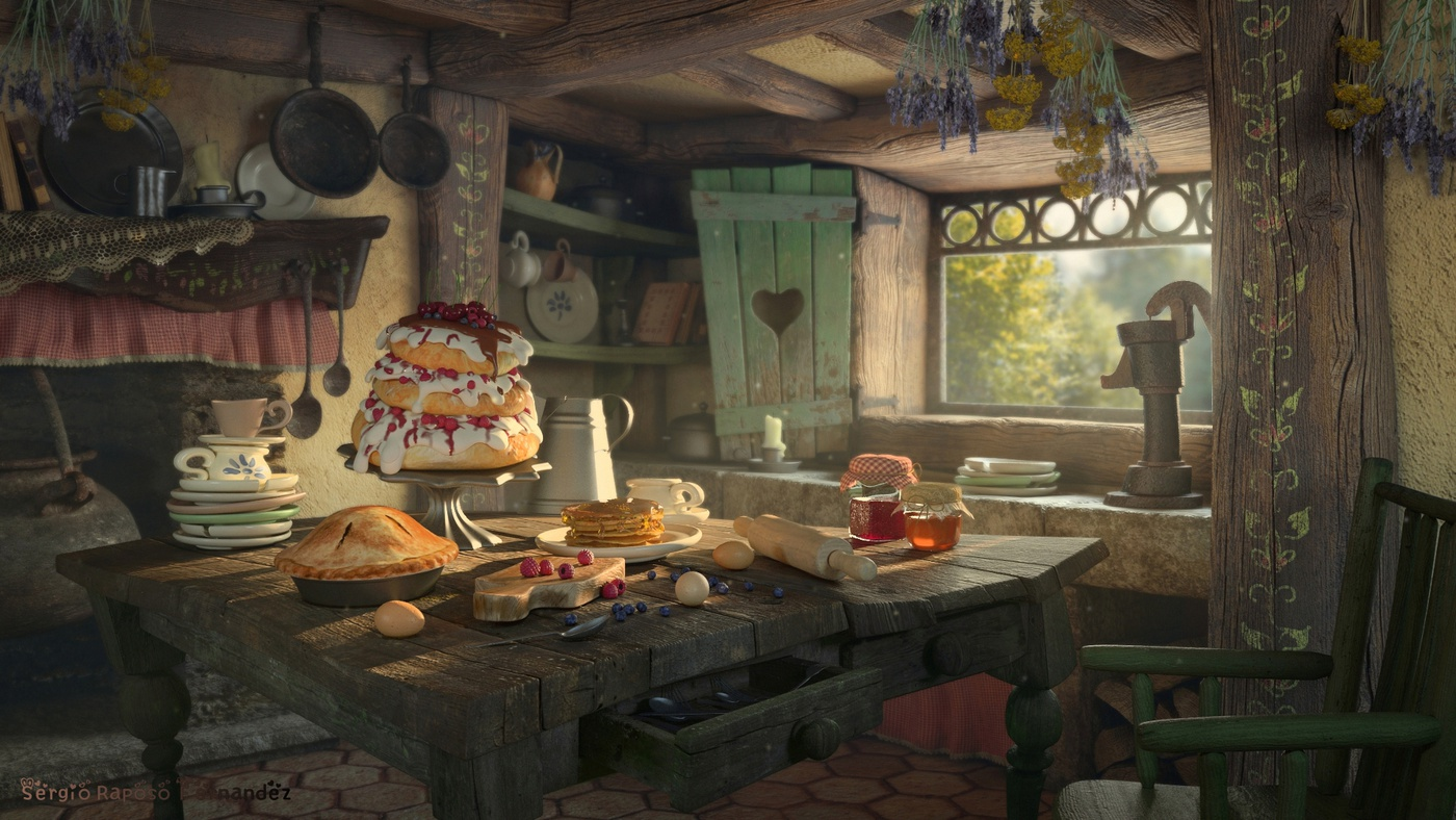 hansel and gretel fairytale scene