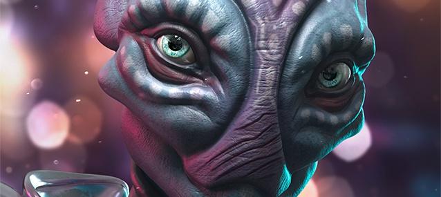 female alien 3d art