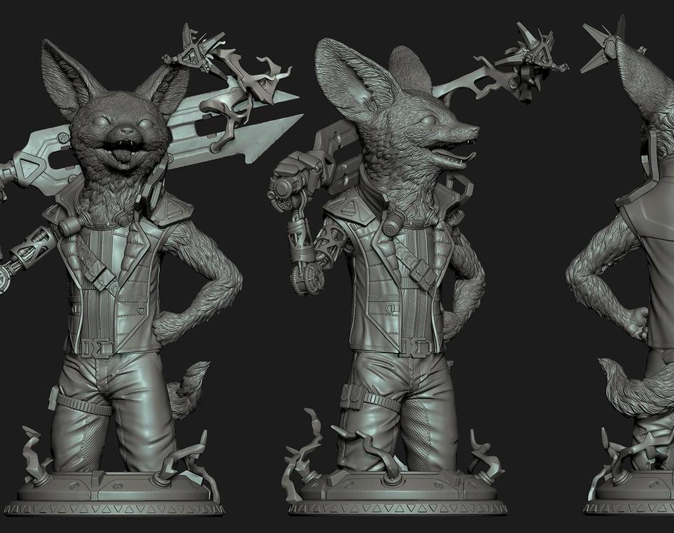 Fennec Fox Sculpityourselfby Robson Barros