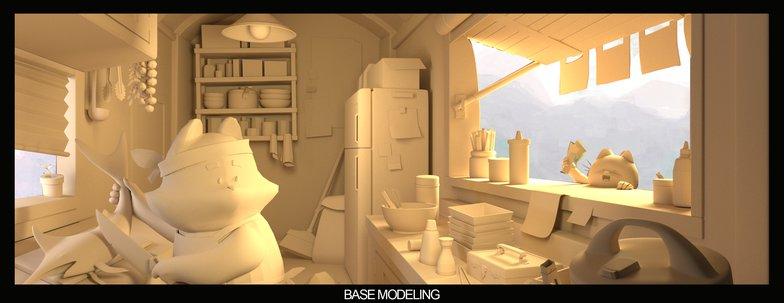 blockout base modeling render composition design sculpting