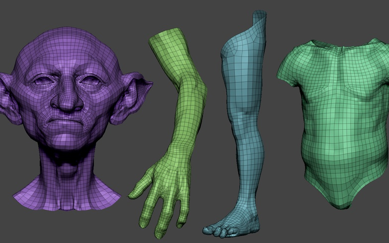 retopology poly modeling uvs  maya accessories sculpting