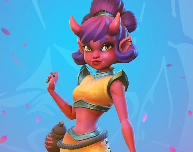 Oni Girl (Real-Time Model)by Yuzach