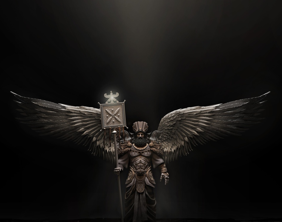 Persian(achaemenian) mythical guardianby Siavosh houshmandi