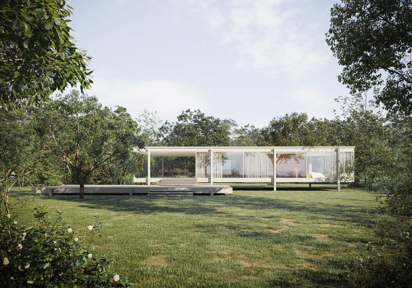 nature housing model render 3d location