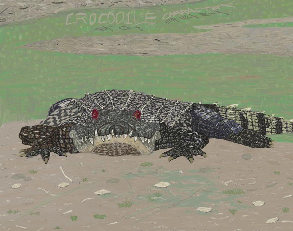 crocodile characterby apglim