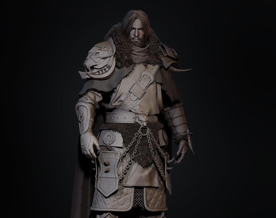 Norse warrior - Clay renderby MarcelloZibetti