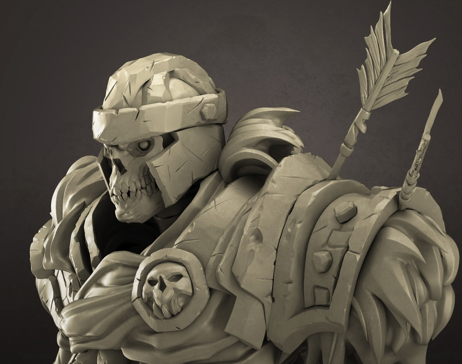 Fan Art- Skeleton soldier(Darksiders-II)by sujeet