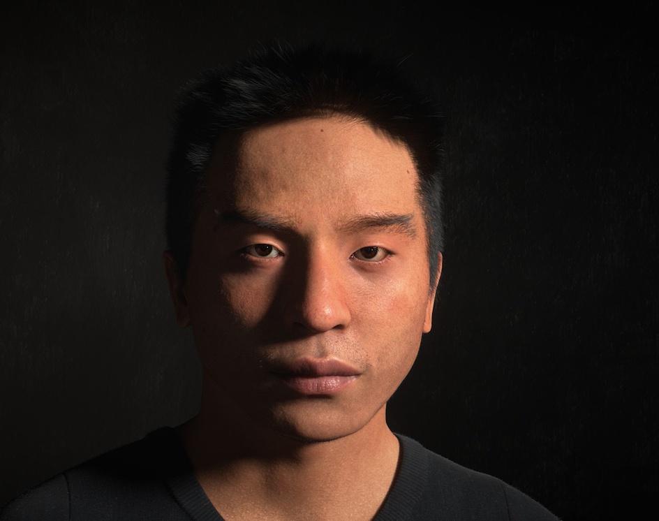 Self portrait (WIP)by Emmanuel-Xuan Dubois