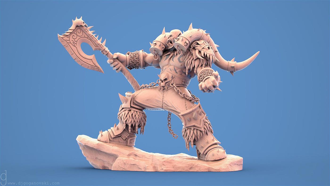 3d model sculpt corrupt warchief world of warcraft