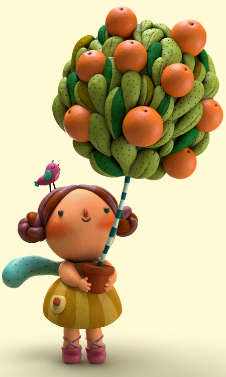 clay sculpture young child character design balloon youth
