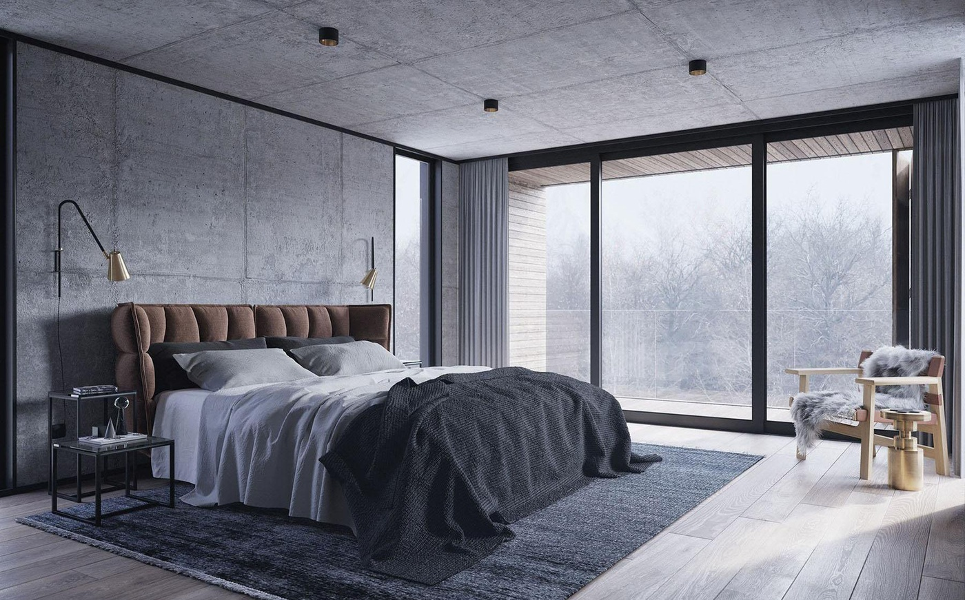 winter house interior design 3d