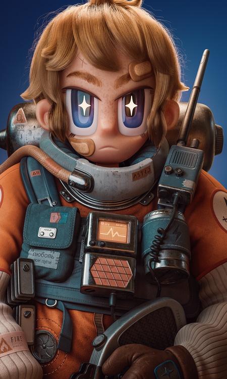 sci-fi space cadet female character anime manga inspired