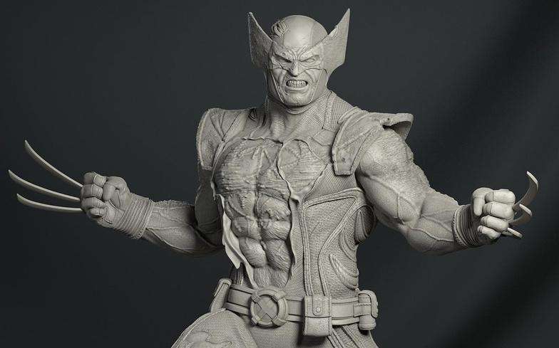 wolverine statue marvel sculpture
