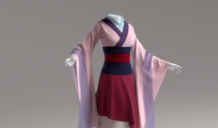 disney mulan 3d kimono fashion model