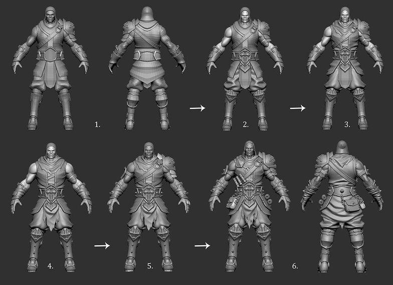 development of male battle character