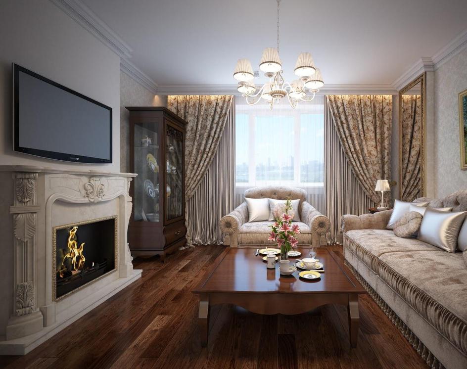 Traditional living roomby Archviz.Studio