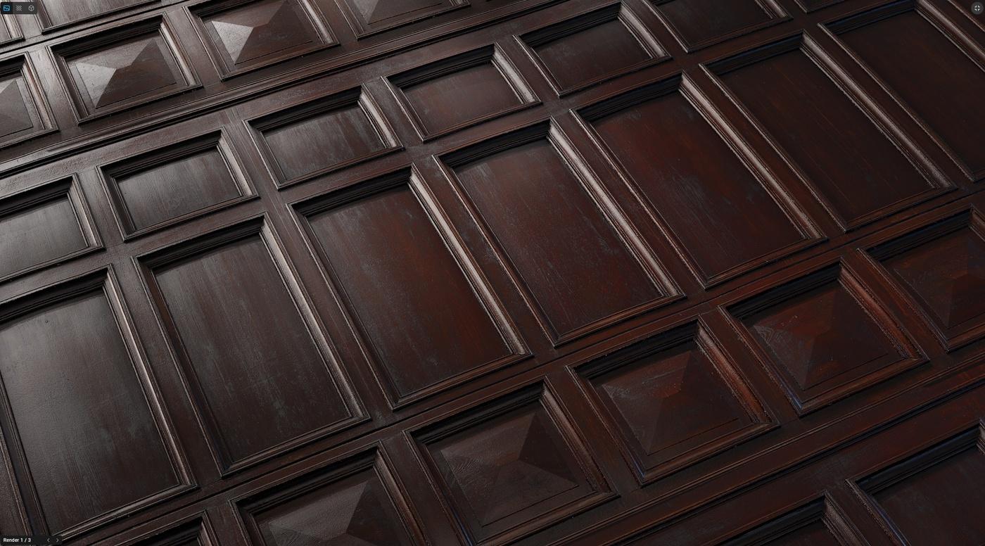 wooden material pattern planks 3d model