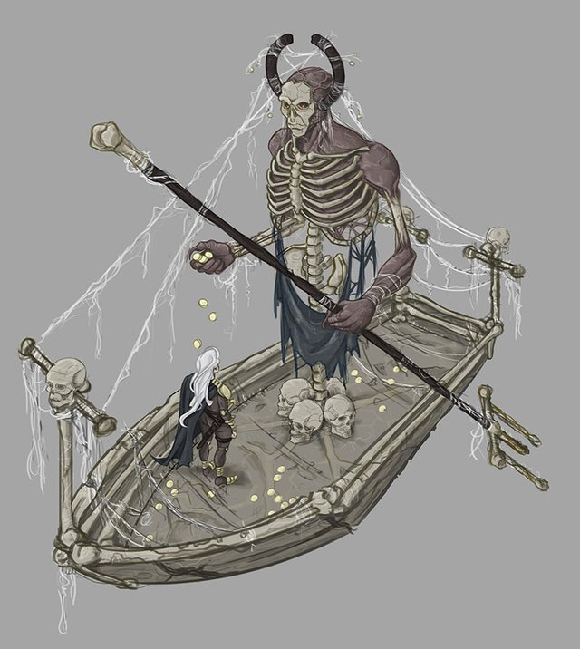 skeleton boatman