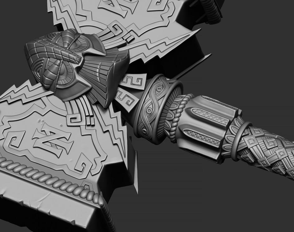 Dwarf Hammer 2by Goprem