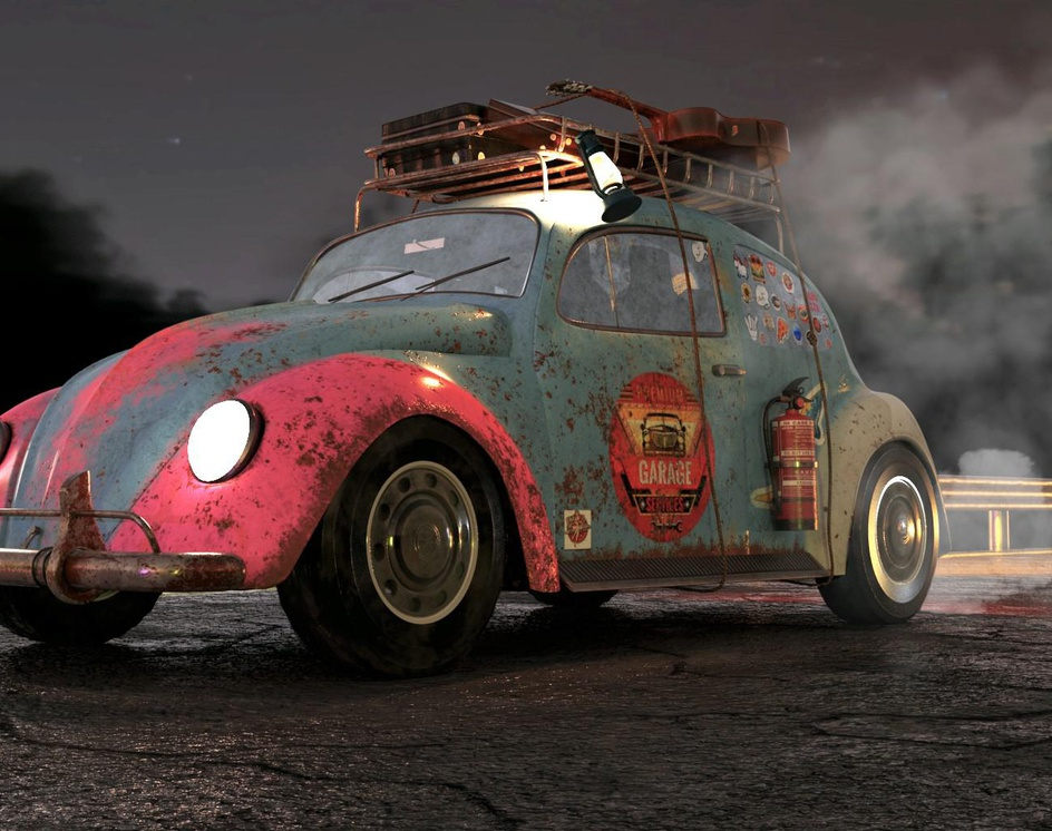 Volkswagen beetle Get outby Baker awad