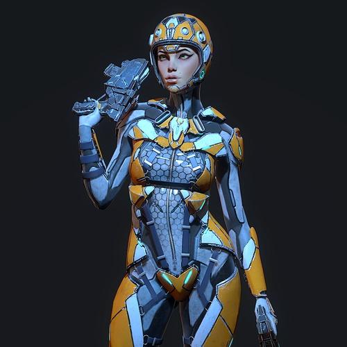 sci-fi character design