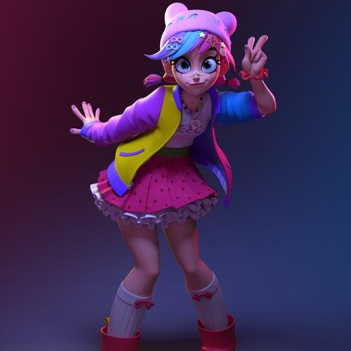 harajuku girl japanese anime inspired female character design