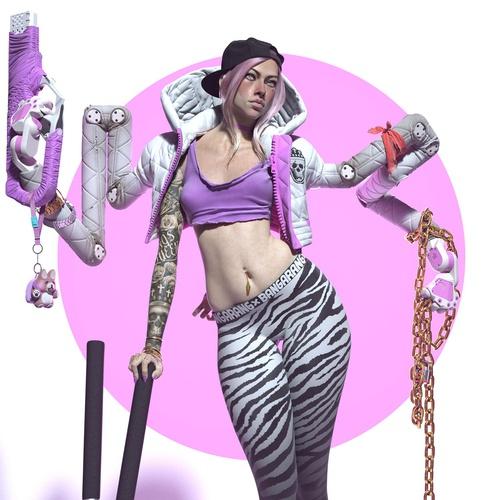cyberpunk character design female art
