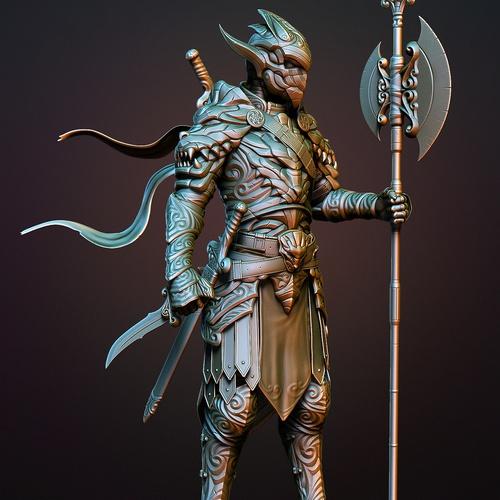 futuristic ninja warrior 3d