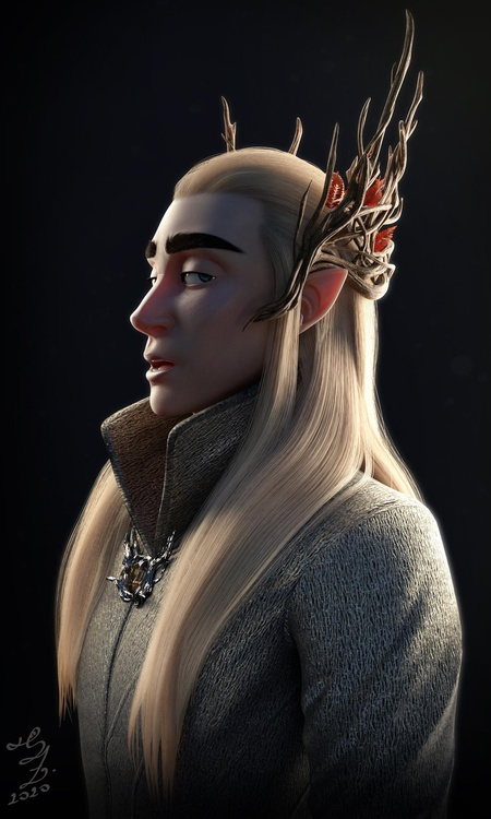 thranduil the hobbit book series 3d sculpt character design fantasy