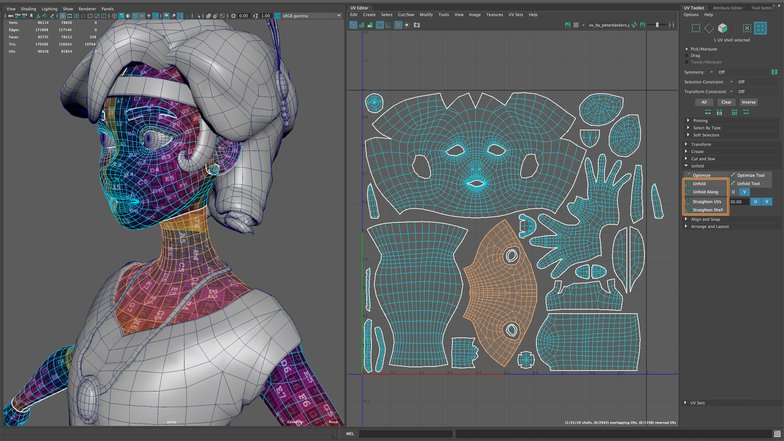 uv mapping character 3d rig