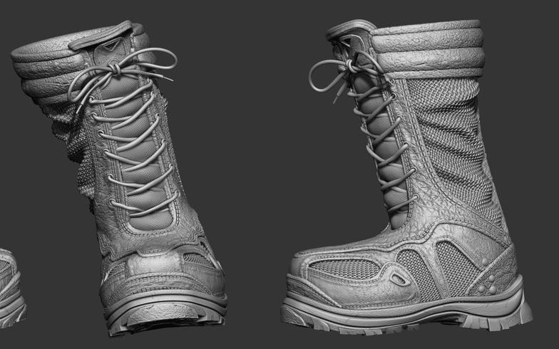 uv model texturing boots