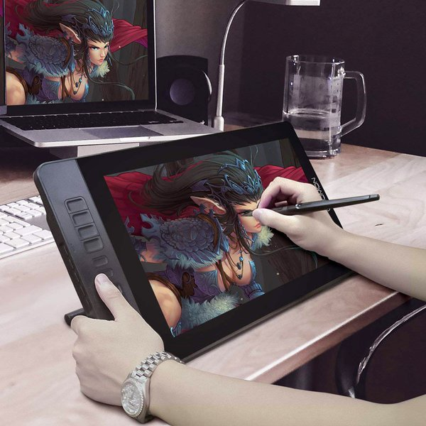 pen display, graphic tablet, character, drawing