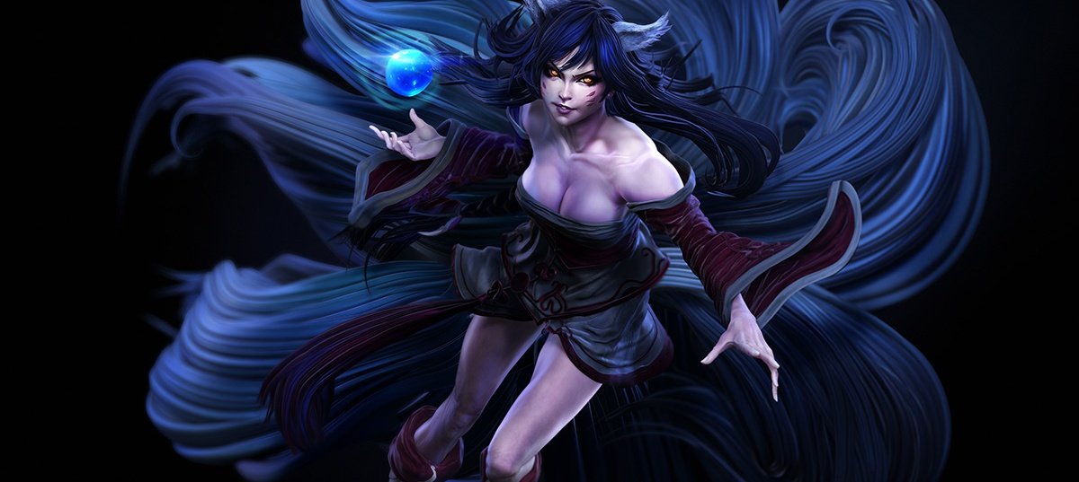 Ahri, League of Legends, warrior