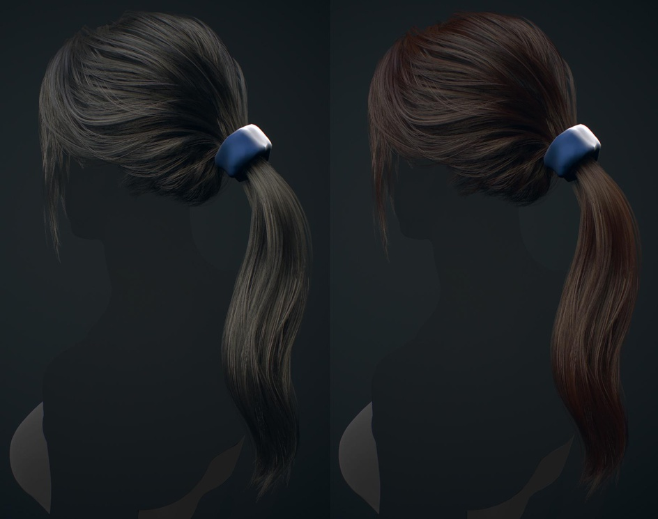 Real-time hair - WIPby Aditya Parab