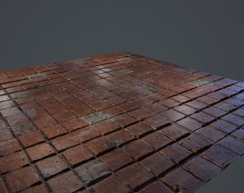 Kitchen Tile Worn: Substance 01by sullum97