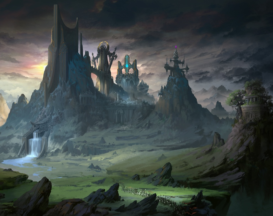 The Castle Above the Waterby Dragon CG