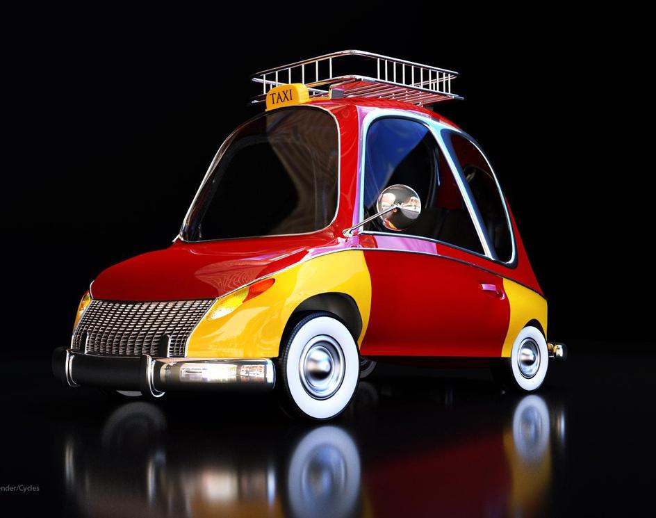 Stylized Taxi by Michael Asiedu